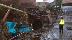 FOTOS Y VIDEOS: Tromba desborda río y represa en Peribán,
