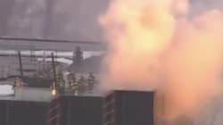 Un incendie s'est déclaré en haut de la