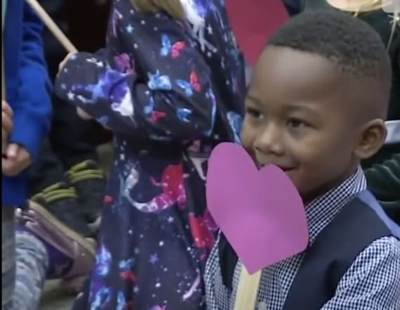 Kindergarteners attend classmate's adoption hearing