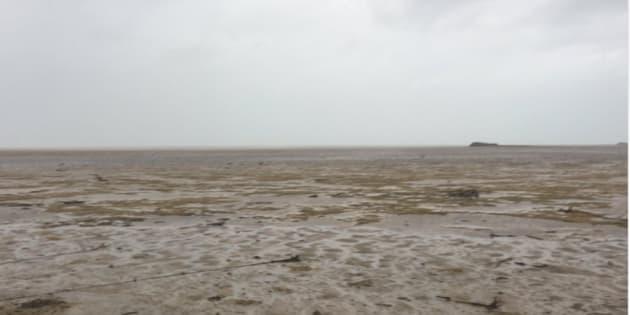 Ilha nas Bahamas ficou sem mar nos últimos dias.