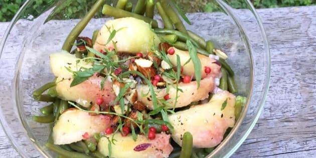 Ma recette, vite fait, bien fait: salade de haricots et pêches.