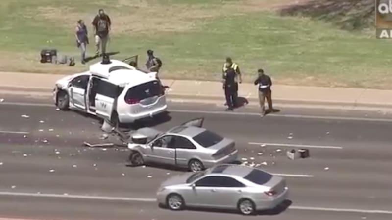Waymo self-driving van involved in Arizona crash