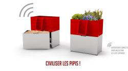 Pour uriner proprement dans la rue, des bacs à fleurs spéciaux seront installés à Paris et à