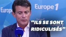 Valls et les pancartes des Insoumis à l'Assemblée?