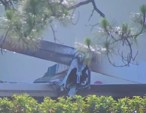 One dead after plane crashed into daycare center