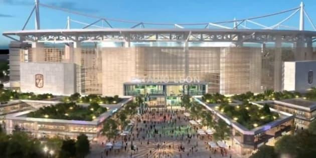 Captura de pantalla del prototipo del estadio a construirse en León, Guanajuato.