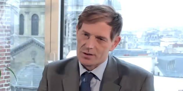 """Grangeon (ici lors d'une interview en mars 2014 lorsqu'il travaillait pour Capgemini) débarque à la tête de LREM. Une nouvelle étape pour le retour de la """"bienveillance"""" macronienne?"""
