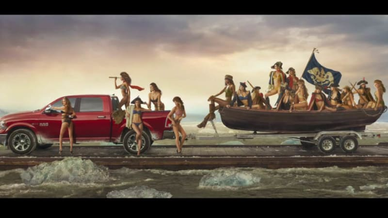 Dodge Dealers In Delaware >> Ram recreates 'Washington Crossing the Delaware' with SI Swimsuit models | Autoblog