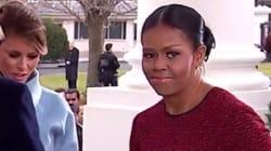 Michelle Obama n'a pas pu cacher sa gêne devant le cadeau de Melania