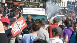 La voiture de Radio France n'était visiblement pas invitée à la