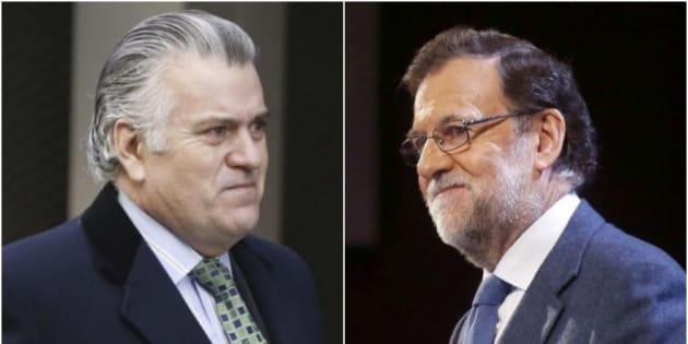 El extesorero del PP, Luis Bárcenas, y el presidente del partido y del Gobierno, Mariano Rajoy, en sendas imágenes de archivo.
