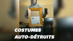 L'oeuvre auto-détruite de Banksy a inspiré ces costumes