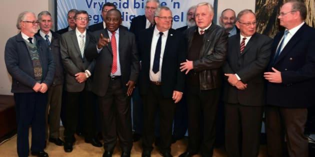 Image result for afrikanerbond ramaphosa foto