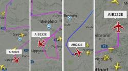 Oui, oui, le pilote de cet avion a bien dessiné un sapin de noël dans le