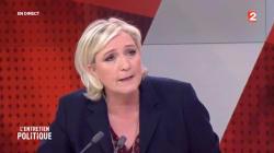 Sur France 2, Marine Le Pen accuse la patronne de France Télévisions de rouler pour