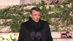 Emmanuel Macron fait applaudir Johnny Hallyday par la