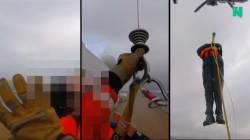 L'hélitreuillage du Viking Sky filmé par les