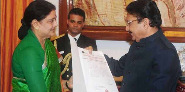 Sasikala met Tamil Nadu Governor C Vidyasagar Rao on 9 February, 2017.