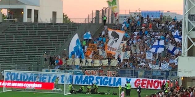 Le message des supporters marseillais en solidarité avec Gênes