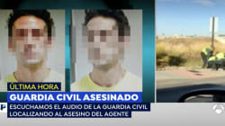 Los compañeros del guardia civil, tras detener al presunto asesino:
