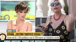 Una prostituta corta su entrevista en pleno directo tras lo que le soltó un colaborador del programa 'Ya es