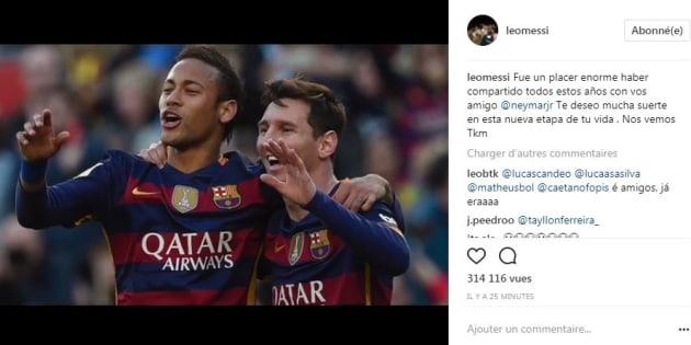 """Neymar au PSG: Leo Messi souhaite à son ex-coéquipier """"bonne chance dans cette nouvelle vie"""""""