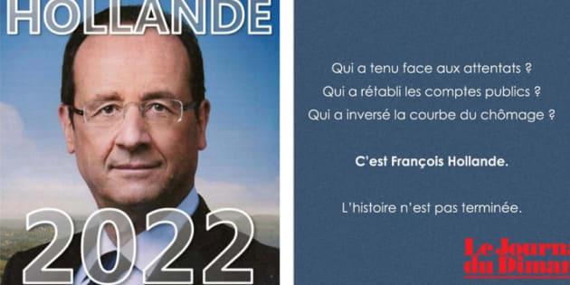 """""""Hollande 2022"""", un tract pour tester la popularité de l'ex-président car """"l'histoire n'est pas terminée""""."""