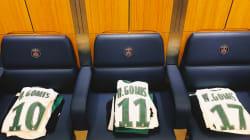 L'hommage émouvant des joueurs de Saint-Etienne à un ex-jeune du centre tué par