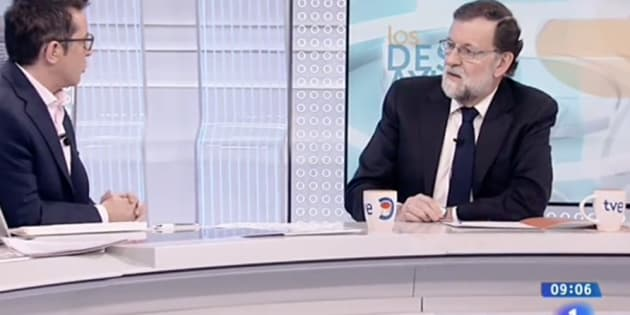 Mariano Rajoy, entrevistado por Sergio Martín en TVE.
