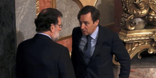 Rajoy y Hernando