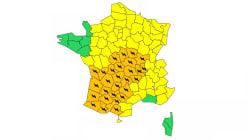 28 départements du Sud et du centre en vigilance orange aux