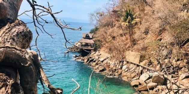 Colomitos, la playa más pequeña de México aún es virgen.