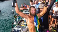 Le premier homme à traverser l'Atlantique en