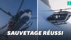 Ce sauvetage en hélicoptère en France impressionne dans le monde