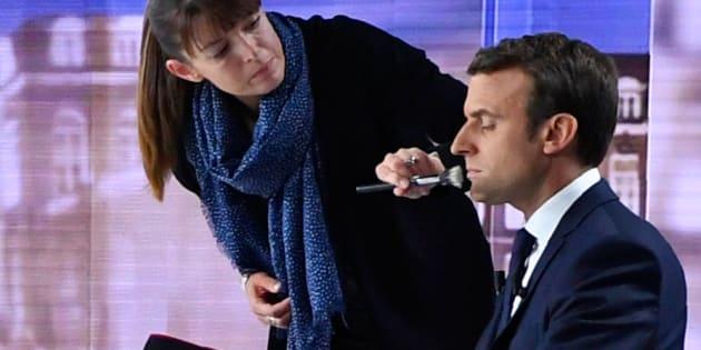 Emmanuel Macron lors du débat d'entre-deux-tours.