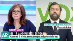 Fuerte enfrentamiento en el programa de Ana Rosa con un líder de Vox: