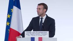 Macron fait respecter une minute de silence en hommage aux 123 femmes tuées en 2016 par leur