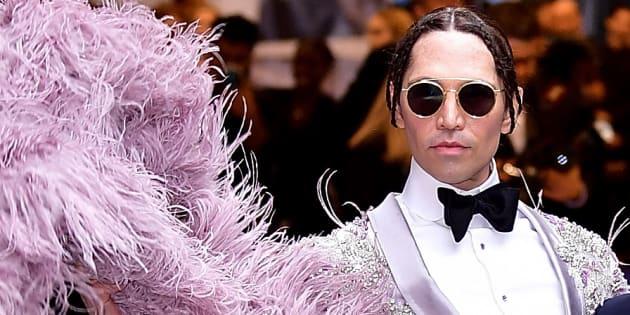 Edmundo Huerta et un invité le 5 juin 2017 au CFDA Fashion Awards à New York.