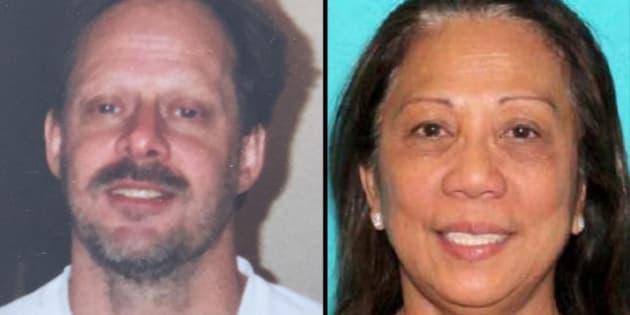 Las Vegas gunman Stephen Paddock and his Australian girlfriend, Marilou Danley.