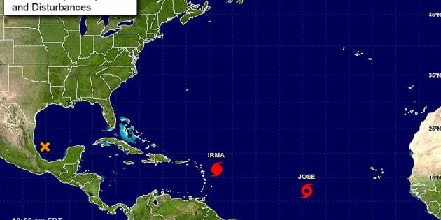 La tempête tropicale Jose suit de près l'ouragan Irma, qui frappe les Antilles ce mercredi.