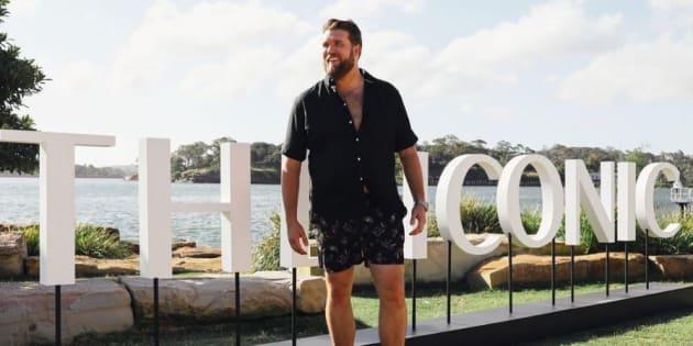 """Zach Miko a participé au défilé """"The Iconic Swim Show"""", le 29 novembre 2018 à Sydney."""