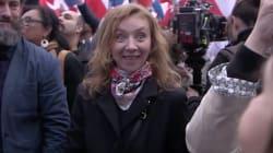Sylvie Testud dérangée en plein tournage d'un film lors du rassemblement au