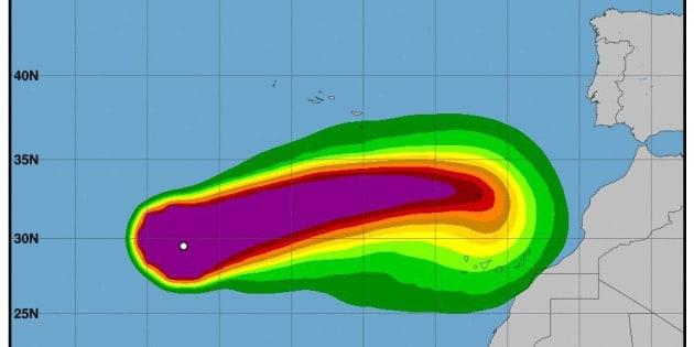 Trayectoria del huracán 'Leslie'