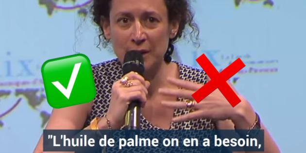Emmanuelle Wargon sur l'huile de palme dans les laits infantiles