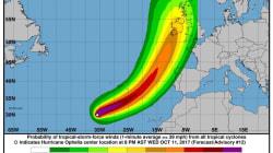 La tempesta tropicale Ophelia punta all'Europa, scatta l'allarme in Irlanda e Gran