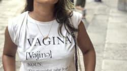 Ela usou uma camiseta com a palavra 'vagina', e conquistou a fúria dos