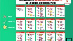 Programme de la Coupe du Monde 2018: le calendrier honteusement subjectif à
