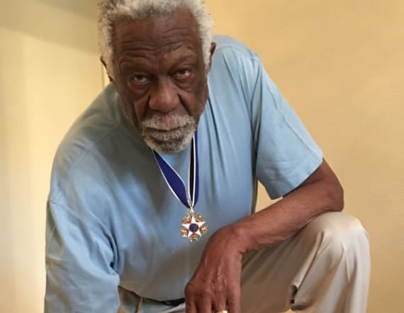 NBA legend took knee while wearing Medal of Freedom