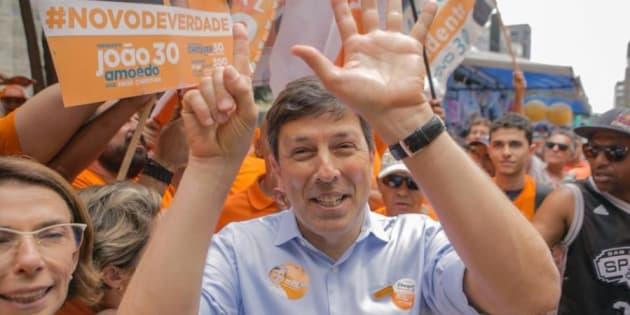 """""""Nosso desempenho foi sensacional"""", disse João Amoêdo, candidato à Presidência pelo Partido Novo em 2018."""