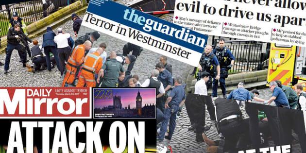"""La presse britannique face à la """"terreur"""" au lendemain de l'attentat à Londres"""